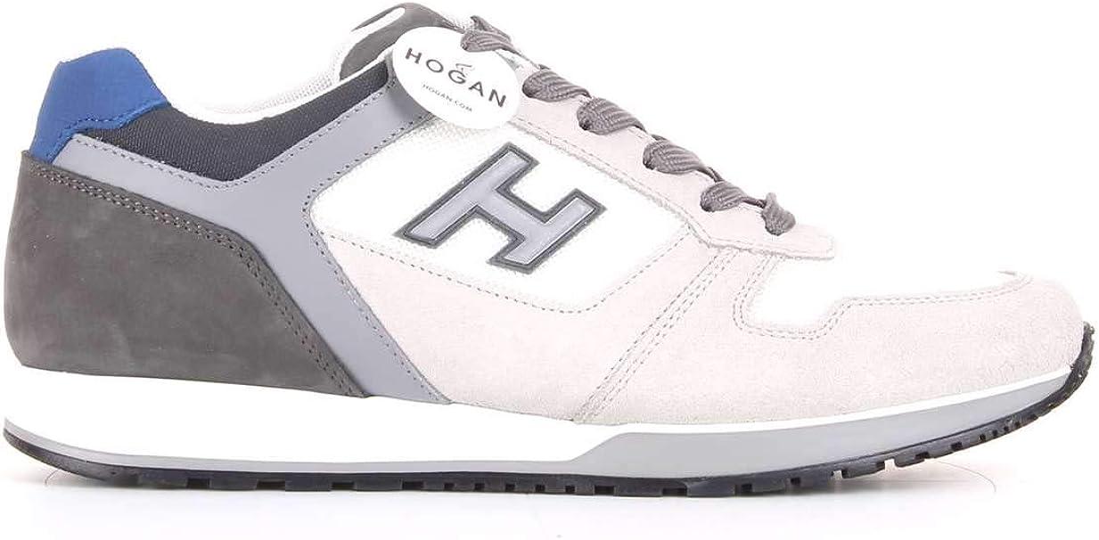 Hogan Sneakers H321 CAMOSCIO Bianco Avorio Grigio, Uomo, Taglia 43 ...