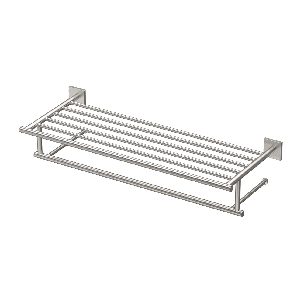 Gatco 4077 Elevate Minimalist Spa Rack, 26'', Satin Nickel
