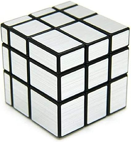 CocoRio Mirror Cube 3x3 Rubik Cube High Speed Brainstorming Puzzle Game Toy (Silver)