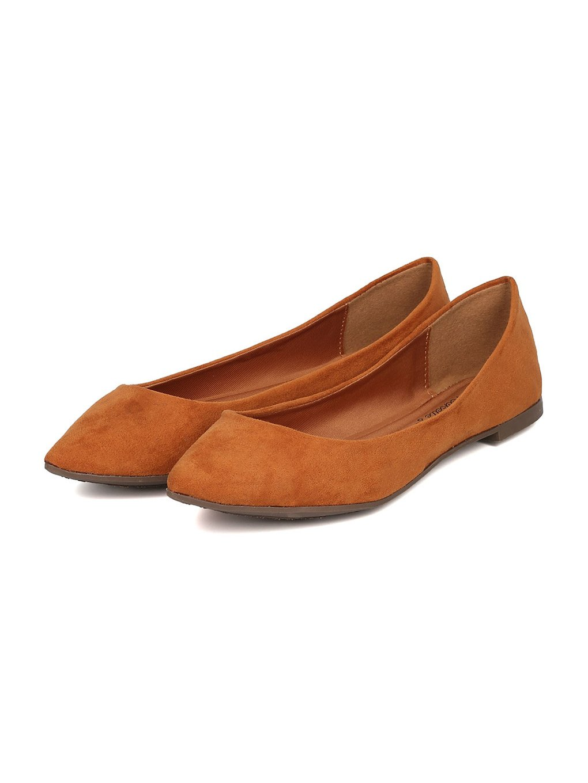Breckelle's Women Faux Suede Pointy Toe Ballet Flat GH13 B06XYV1HMP 8 M US Tan