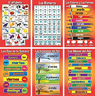 Set of Basic Spanish Posters #1 (Set of 6)
