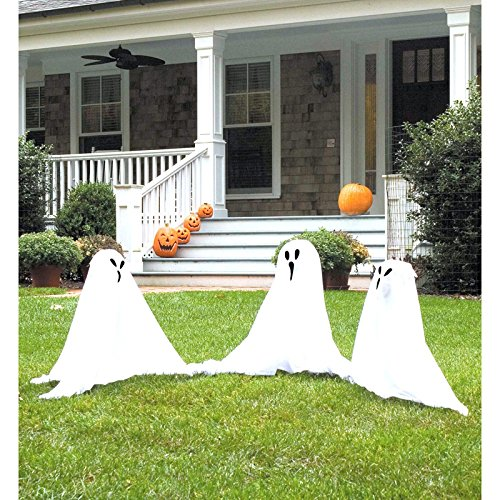 Ghostly Group Lawn Decor - (Halloween Trio Costume)