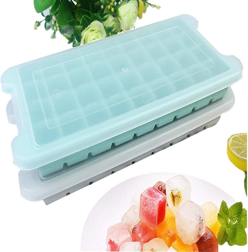 LXSLFY 72 grid Ice Cube Trays With Lids, Food Grade Silicones With Cold Heated Ice Cube Mold. With Splash-Proof Removable Cover ,dishwasher safe