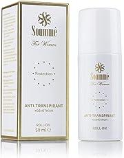 Soummé Antitranspirant Protection Roll-On for Women Kosmetikum [50 ml] | Schützt vor Schweiß- und Geruchsbildung, verschiedene Pflegestoffe [Die Höhle der Löwen]