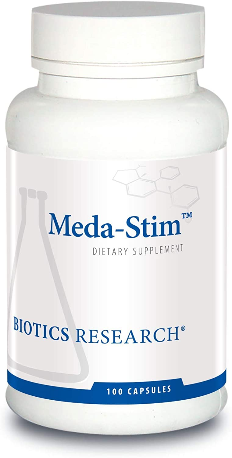 Biotics Research MEDA-Stim Supports Endocrine Function, Nutritional Support for The Thyroid Gland, Healthy T3, T4, Thyroxine Levels, Metabolic Health. Contains Iodine, Selenium, Magnesium. 100 caps