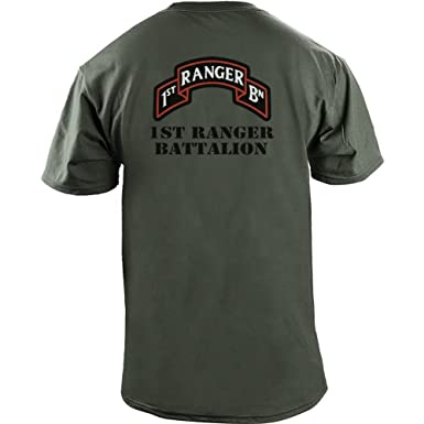 a02fdc57b9d9 Amazon.com: Army 1st Ranger Battalion Full Color Veteran T-Shirt: Clothing