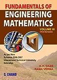 Fundamentals of Engineering Mathematics - Vol. 3 (Uttrakhand)