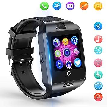 Reloj Inteligente, Smartwatch Bluetooth y Ranura para Tarjeta SIM con Rastreador de Actividad, Podómetro, Cronómetros Reloj de Fitness, Reloj ...