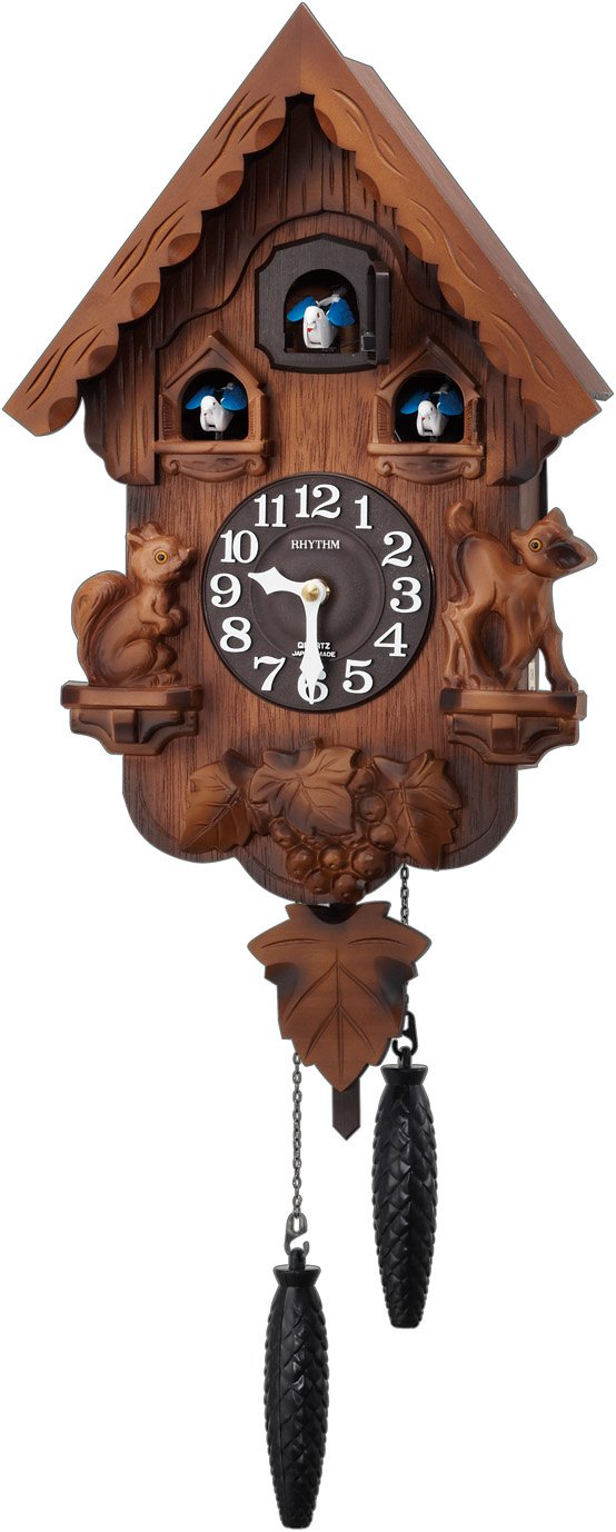 RHYTHM ( リズム時計 ) 【 本格的 ふいご式 カッコー 時計 】 カッコーパンキーR 木枠/濃茶ボカシ木地仕上げ 4MJ221RH06 B00JRQCLKU