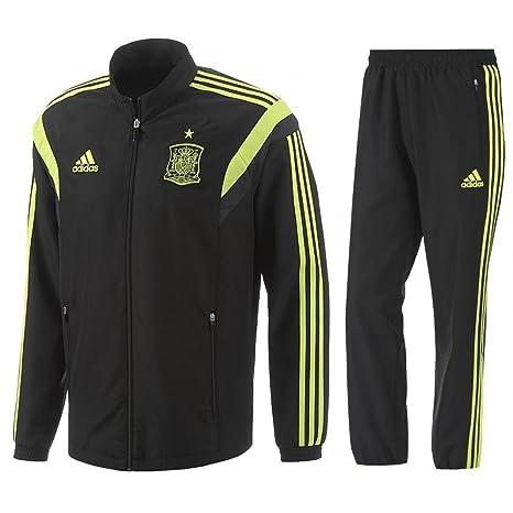 adidas España FEF world cup hombres de poliéster negro fútbol presentación  Chándal 2014 – 15 27458f93289c6