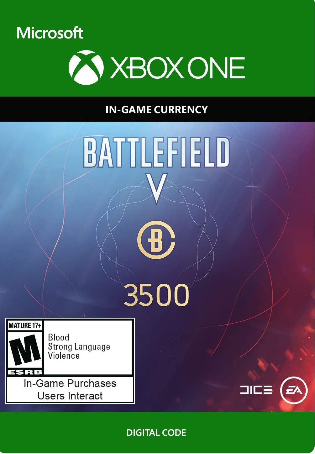 BATTLEFIELD V -  3500 BATTLEFIELD CURRENCY - Xbox One [Digital Code]
