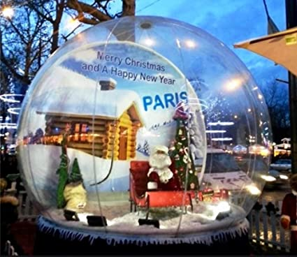 Beautiful Big Inflatable Snow Globe Human Size Inflatable Dome Snow Balloons For Christmas Promotion Inflatable Bouncers Free Shipping To Door
