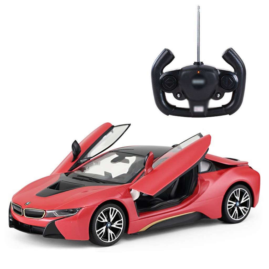 Auto Fernbedienung Auto Kinder Spielzeugauto Fernbedienung Auto BMW I8 Öffnende Tür (Farbe : ROT)