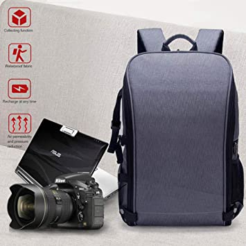 Womdee - Mochila para cámara réflex Digital (15,6