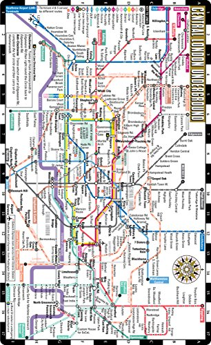 Streetwise London Underground Map The Tube Laminated London