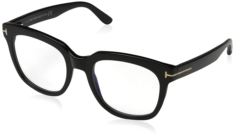 994624120a0 Tom Ford FT 5537-B Blue Block Black 52 20 140 Women Eyewear Frame at Amazon  Men s Clothing store