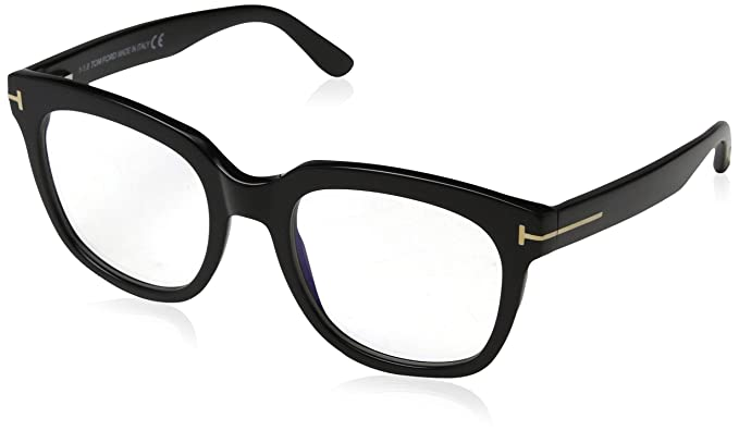 a24b691c36e5 Image Unavailable. Image not available for. Color  Tom Ford FT 5537-B Blue  Block Black 52 20 140 Women Eyewear