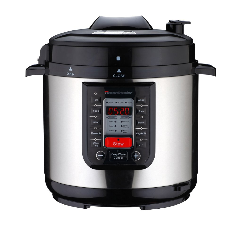 Homeleader 14-in-1 Multi-Use Programmable Pressure Cooker, Digital Electric Pressure Cooker, 6Qt Stainless Steel