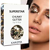 Superstar Chunky Glitter ✮ KARIZMA BEAUTY ✮ Festival Glitter Cosmetic Face Body Hair Nails