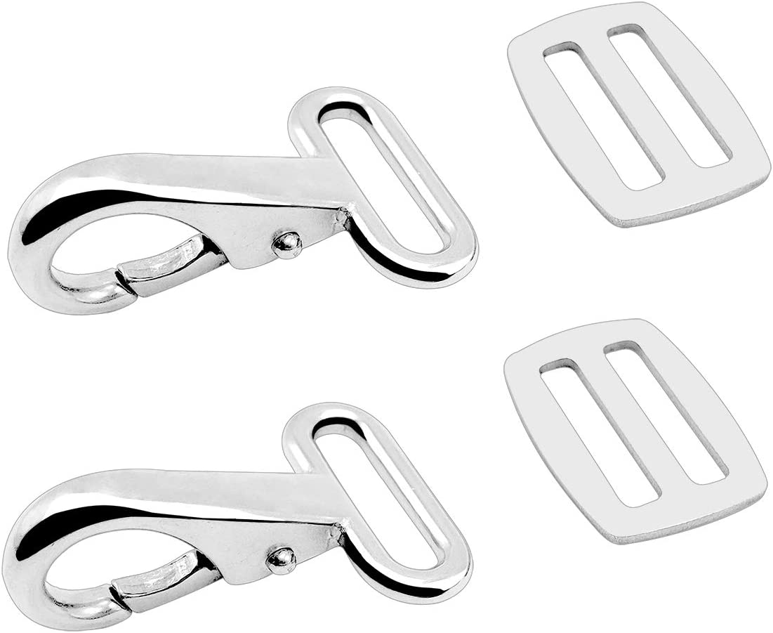 Amadget 316 Stainless Steel Bimini Strap Snaps Hooks and Sliders for 1