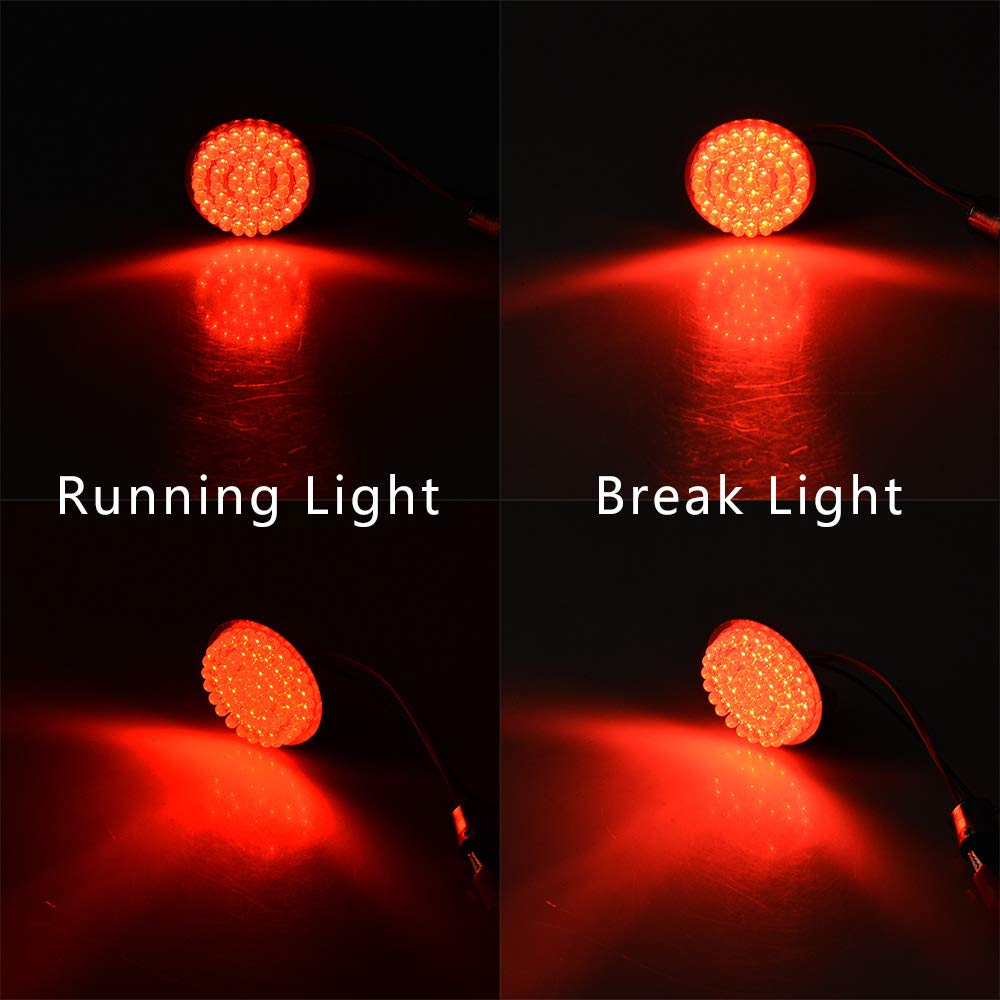 Front and Rear 1157 Bullet Style LED Turn Signals Brake Stop Light Running DRL Kit 4PCS