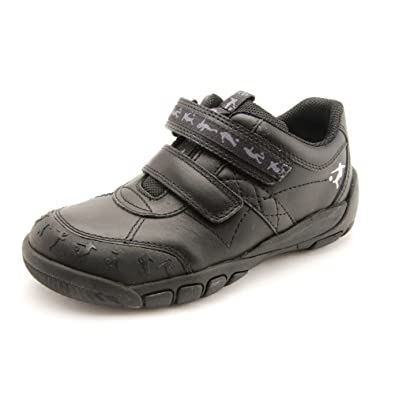 22ae2ec9940e9 Start-rite Hat-Trick Black Leather Boys Shoe: Amazon.co.uk: Shoes & Bags
