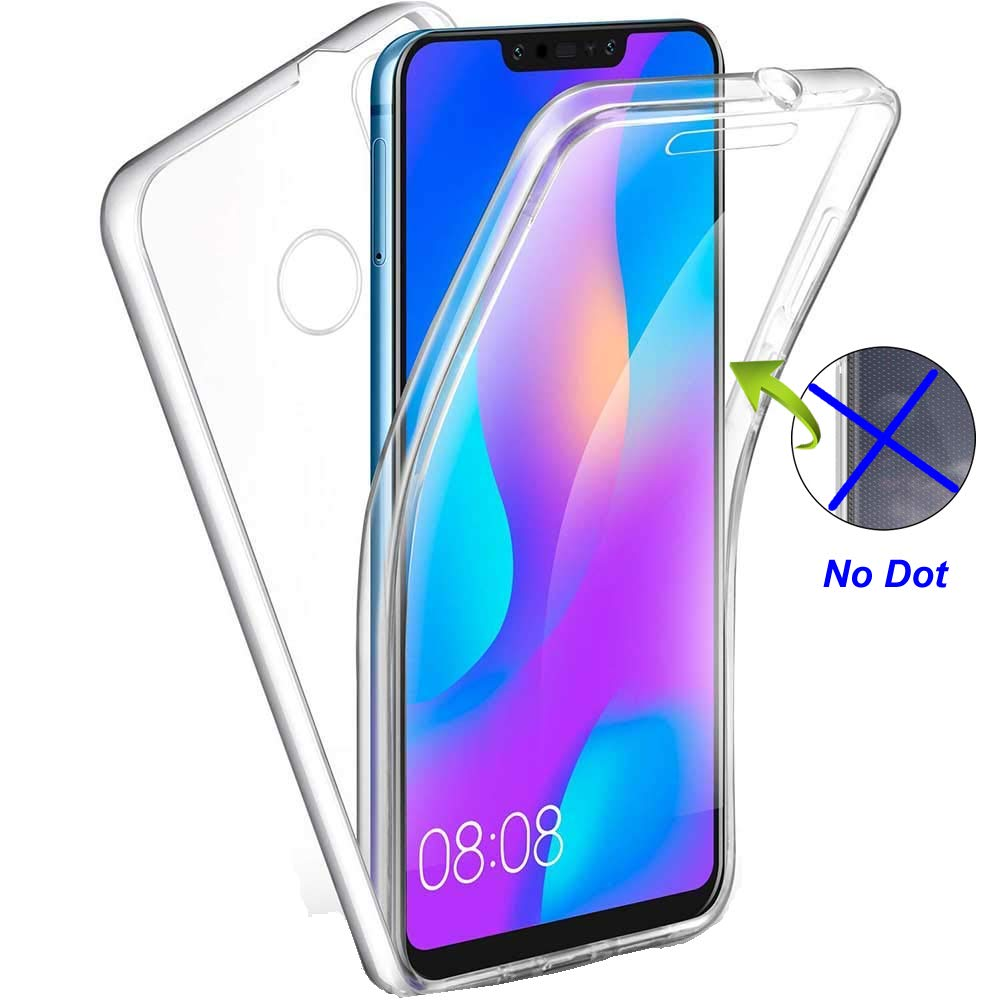Nadoli 360 Degres Full Body Coque Case Cover Clear Transparent Ultra Slim Silicone Gel Case Inté gral Protection Anti-Rayures Coque Housse pour Huawei P8 Lite 2017