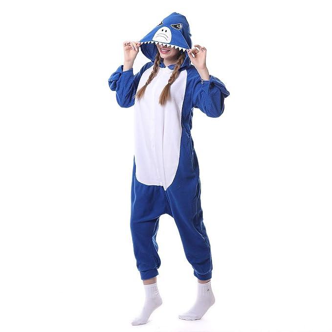 Pijama Trajes de Dibujos Animados, tiburón Azul casa Parejas ...