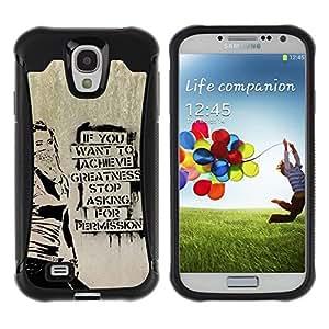 "Pulsar iFace Series Tpu silicona Carcasa Funda Case para Samsung Galaxy S4 IV I9500 , Graffiti Stencil Street Art Occupy Libertad"""