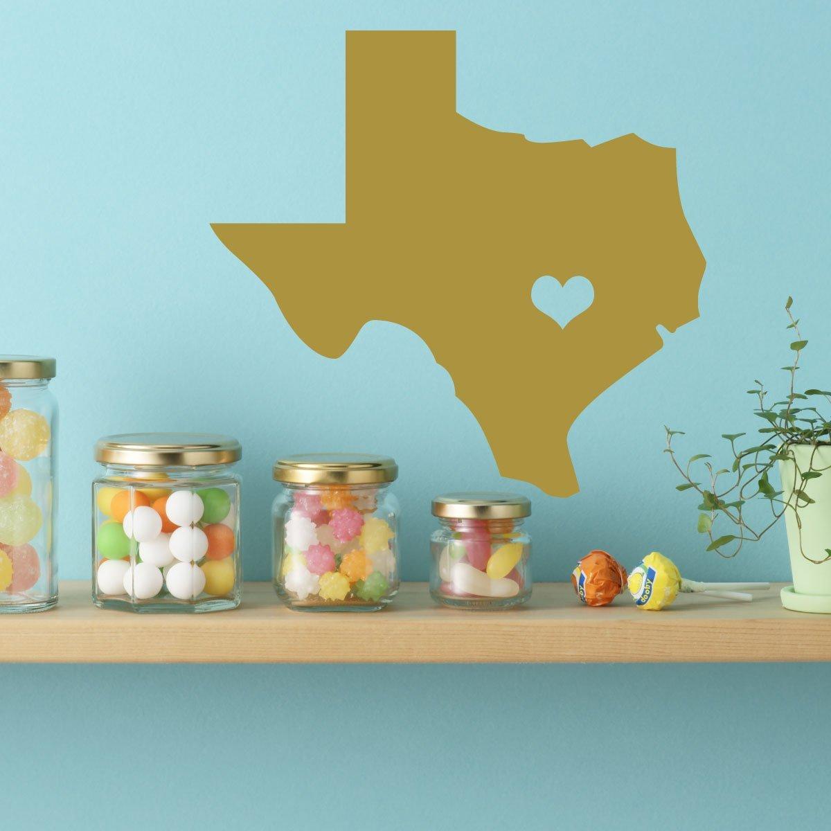 Amazon.com: Texas Wall Decal - I Love Texas Home Decor - The Lone ...