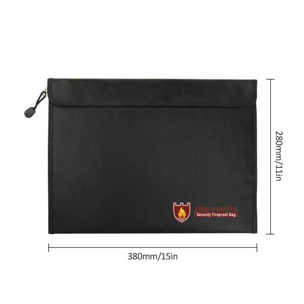 Joyas Documentos Dinero AUTOECHO Double Sided Fireproof Dinero /& Document Bag 15x 11 Fire /& Water Resistant Cash /& Envelope Titular Proteger Tus Objetos de Valor Cierre
