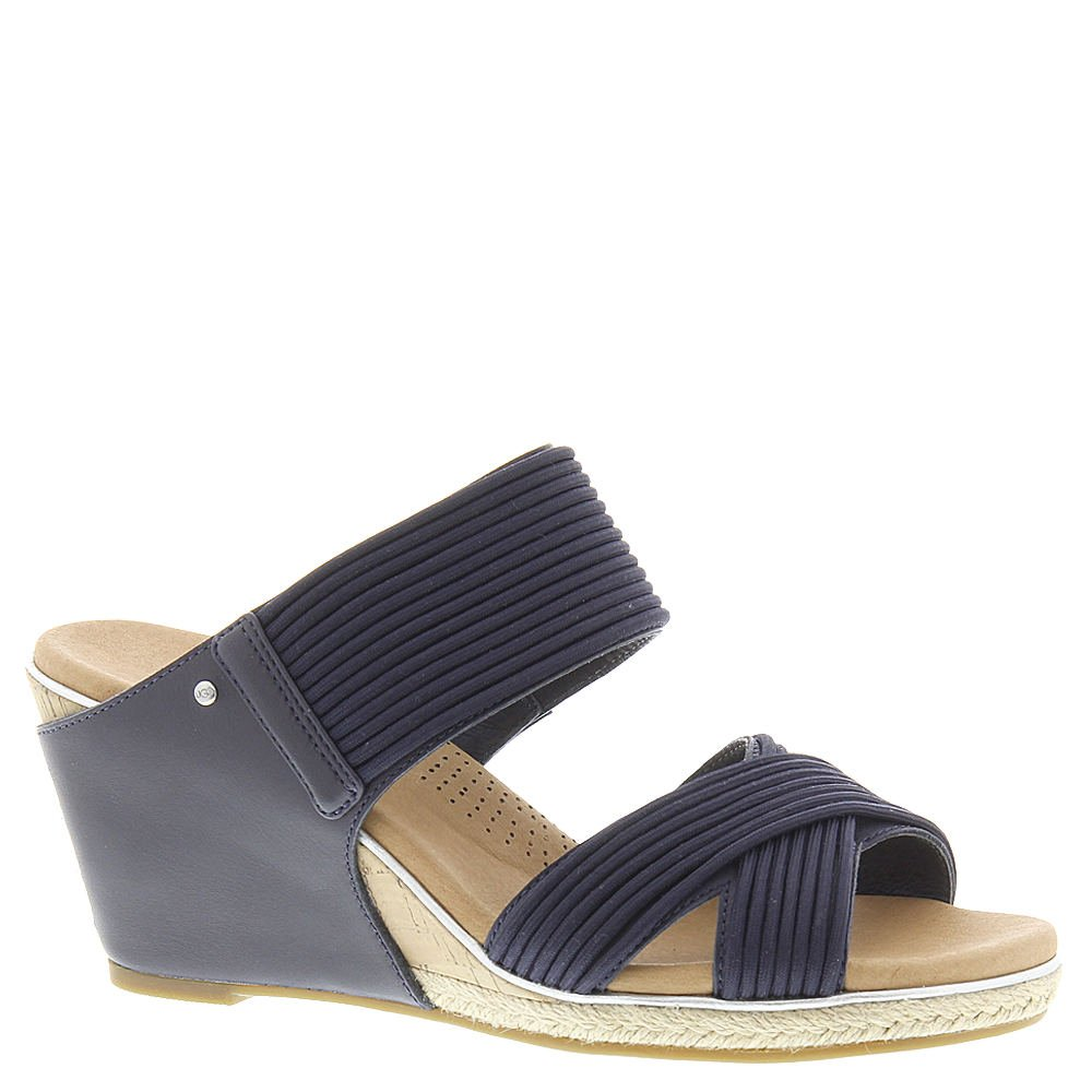c15a87a9bf1 UGG Women's Hilarie Wedge Sandal, Racing Stripe Blue, US 12 M ...