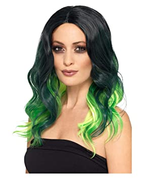 Horror-Shop Peluca Ombre Witches Wig Deluxe Verde