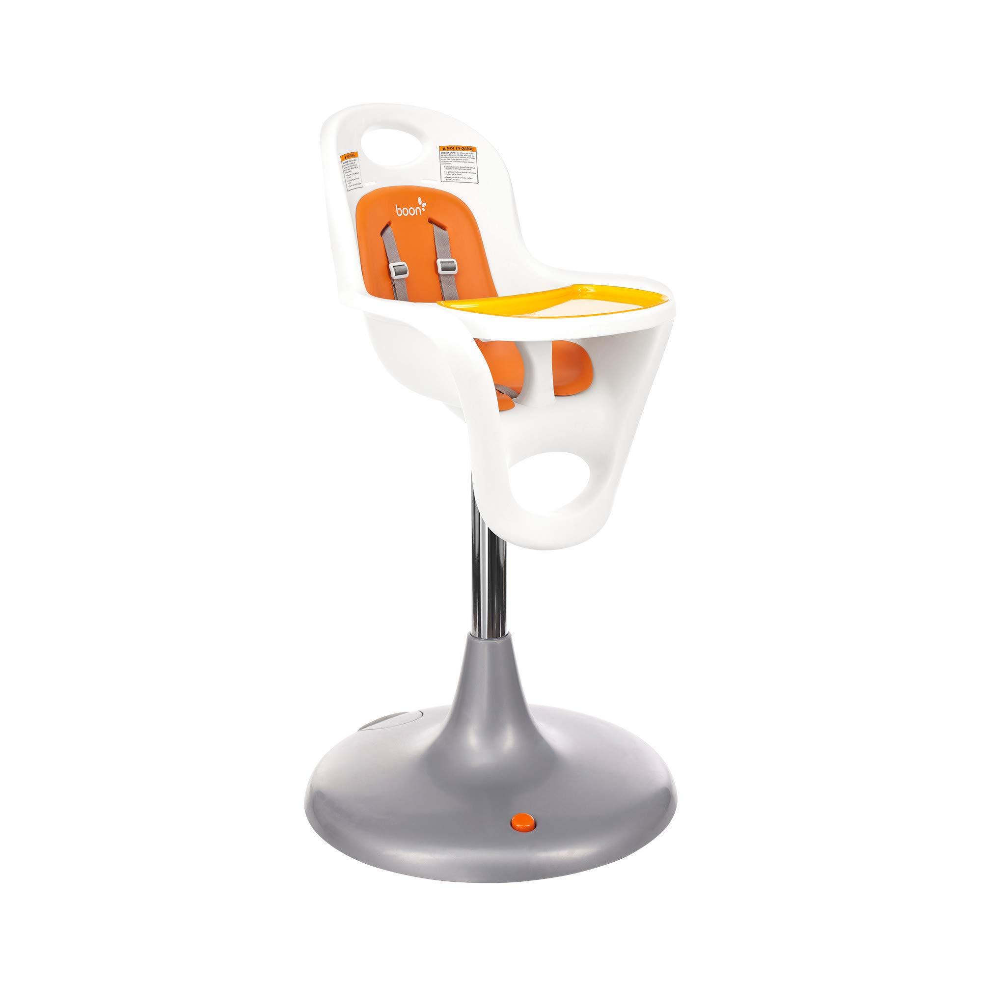 Boon Flair Highchair - Orange Pad - White Base by Boon