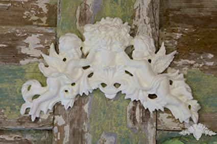 Furniture applique shabby chic moulding appliques cherubs angels