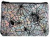 Best Morris Halloween Costumes For Women - Adult Womens Iridescent Vinyl Spider Makeup Bag Halloween Review