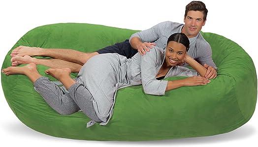 Comfy Sacks 7.5 ft Lounger Memory Foam Bean Bag Chair - a good cheap bean bag chair