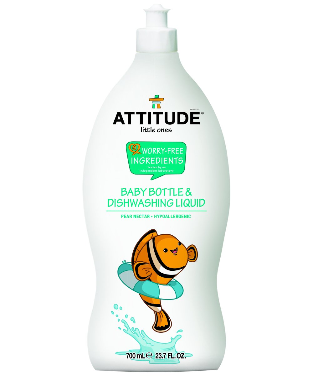 Natural Baby Bottle & Dishwashing Liquid, Hypoallergenic and 100% Baby-Safe - Pear Nectar scent (23.7oz)