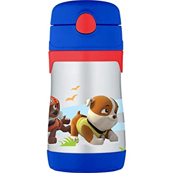 24d77c3989c Thermos Vacuum Insulated Stainless Steel 10-Ounce Straw Bottle, Paw Patrol