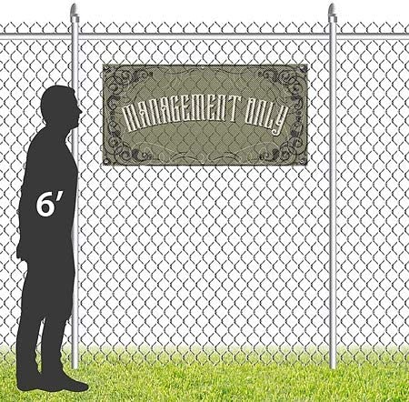 Victorian Gothic Wind-Resistant Outdoor Mesh Vinyl Banner 8x4 Management Only CGSignLab