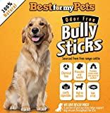 Bully Sticks Supreme Odor-Free - 6-Inch All-Natural Dog Treats Premium Beef Dog Chews, 8-Ounce Bag