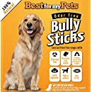 Bully Sticks Supreme Odor-Free - 6-Inch All-Natural Dog Treats Premium Beef Dog Chews, 8-Ounce Bag