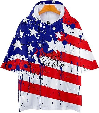 Adulto Niño de la bandera americana Camisa con capucha ...