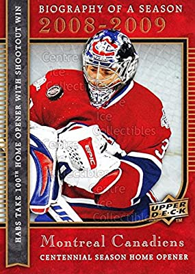 2008-09 Upper Deck Biography of a Season #8 - Carey Price