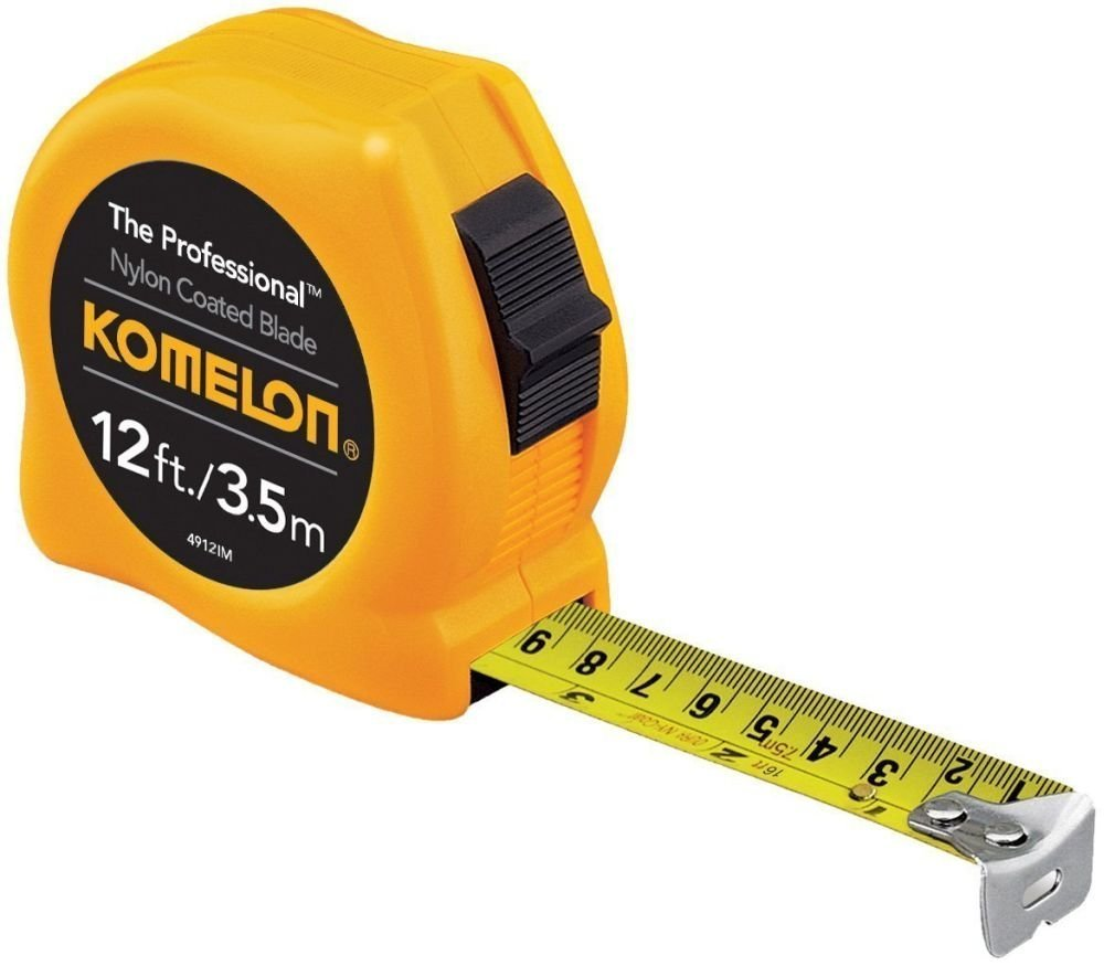 Komelon 4912IM 6 Pack 12ft. The Professional Tape Measure, Yellow