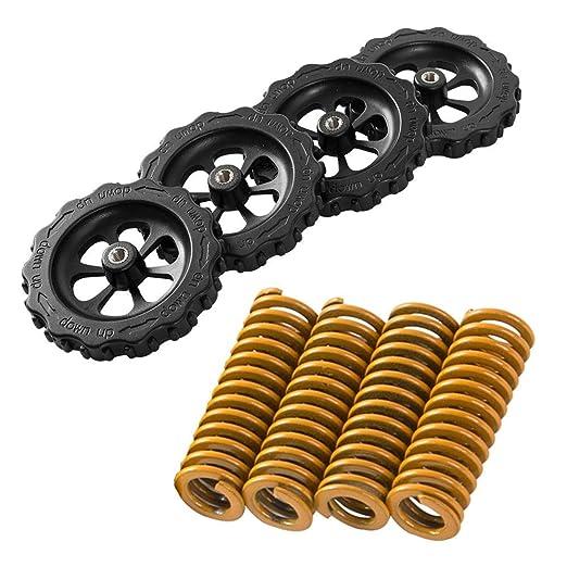 Volwco-Juego de 4 tuercas de nivelación de giro manual,4 unidades ...