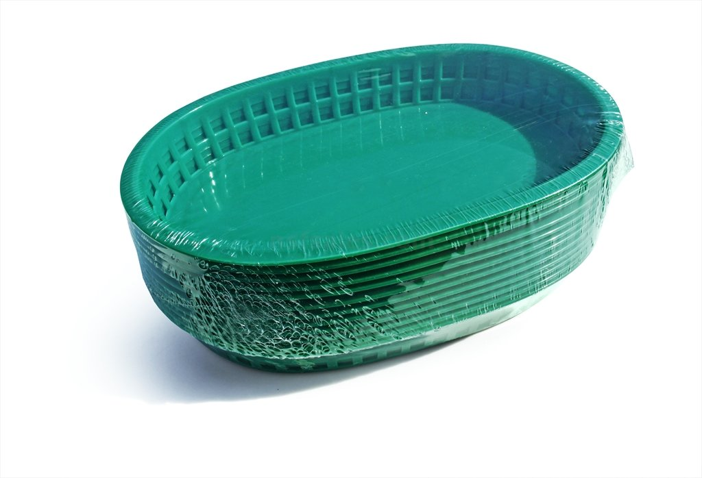 New Star Foodservice 44034 Fast Food Baskets, 10.5 x 7 Inch, Set of 36, Green by New Star Foodservice (Image #2)