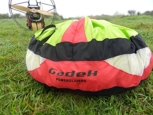 gadek Single Wings Fast Stuff Sack for Paragliding Paramotor PPG Powered garagliding (Size:S Red) by gadek