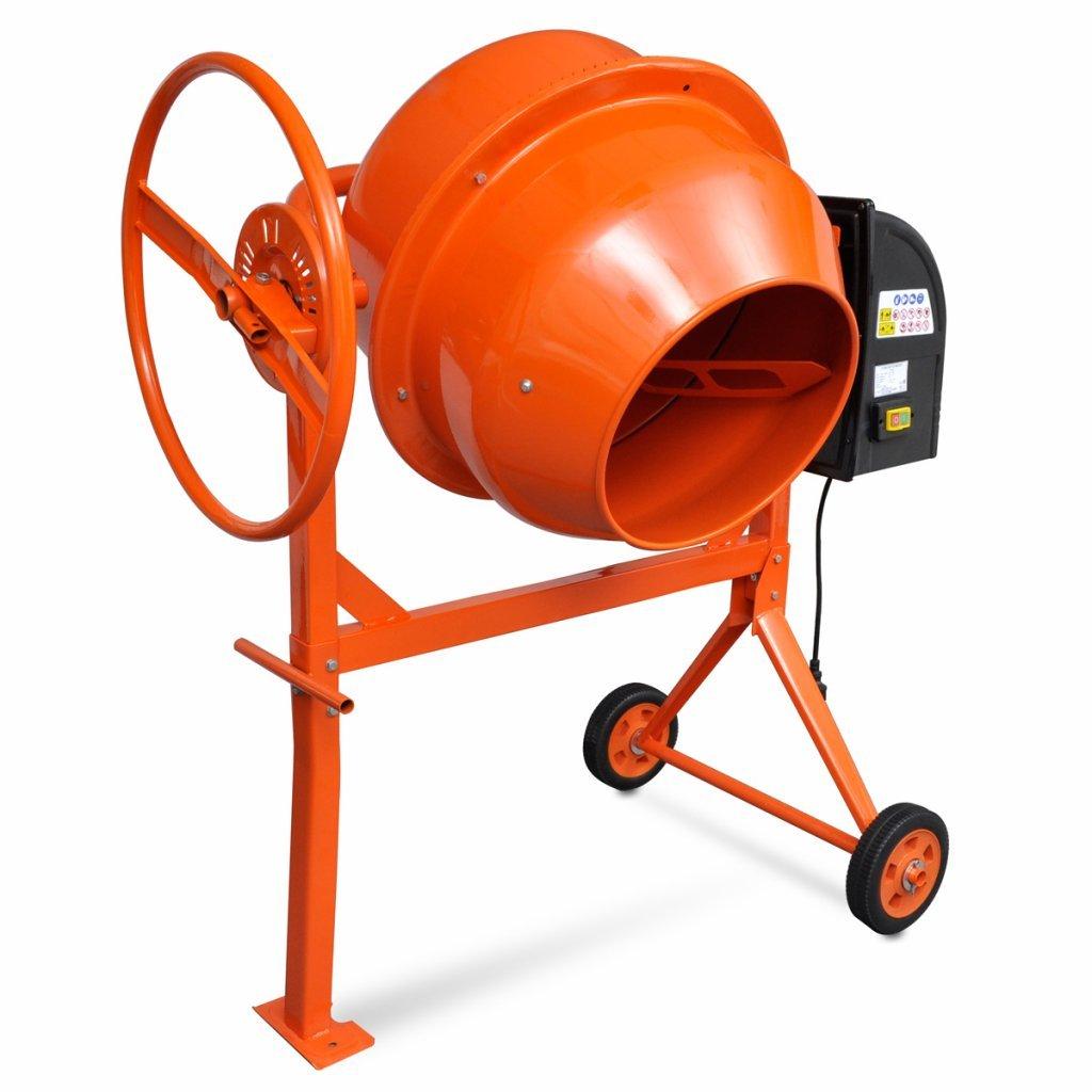 Festnight Hormigonera Vers/átil y Port/átil Acero Color Naranja 140 L 650 W