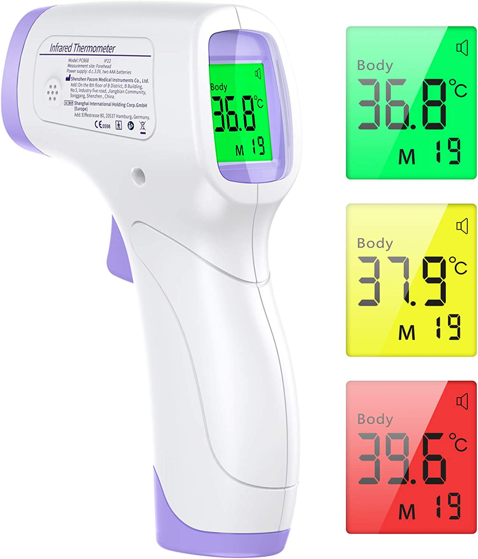 Thermomètre frontal bébé adulte fièvre sans contact corps